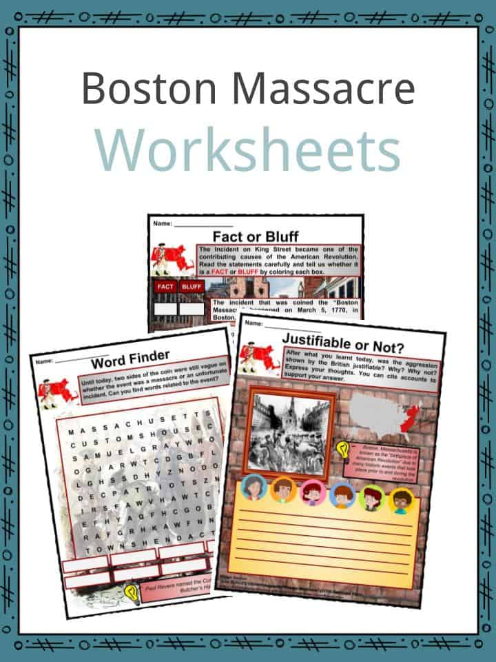 Boston Massacre Worksheets