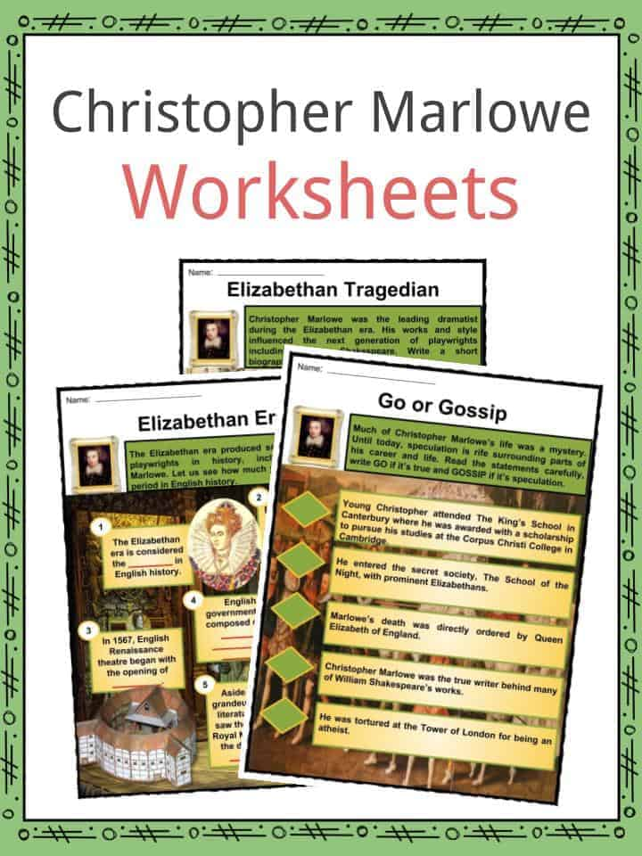 Christopher Marlowe Worksheets