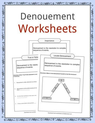 Denouement Worksheets