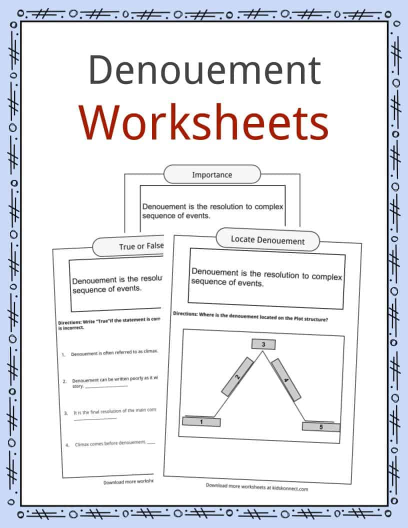Denouement Worksheets