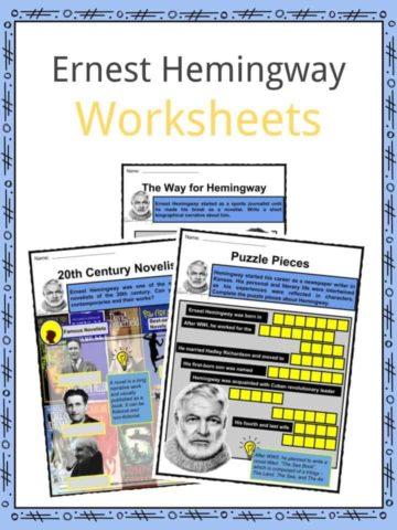 Ernest Hemingway Worksheets