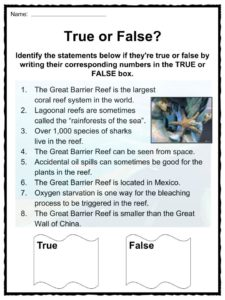 Great Barrier Reef Facts, Worksheets, Ecology & Geology For Kids