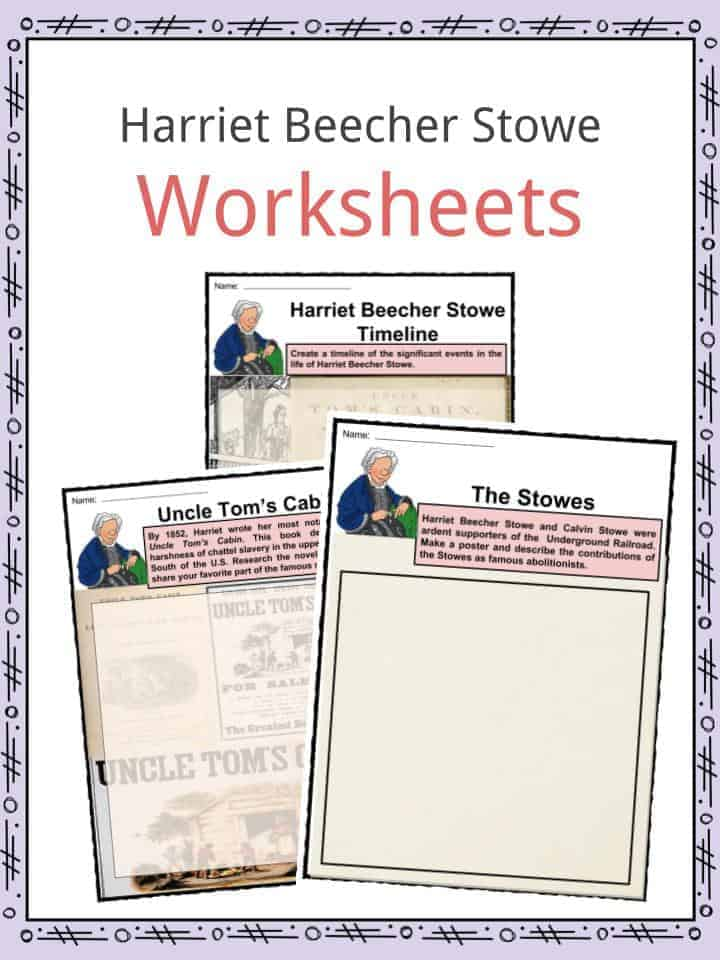 Harriet Beecher Stowe Worksheets