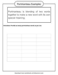 portmanteau phrase classification instance essays