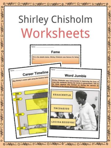 Shirley Chisholm Worksheets