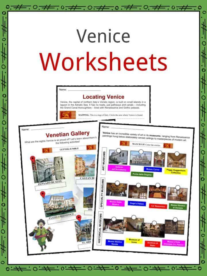 Venice Worksheets