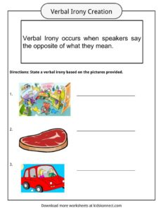 Verbal Irony Facts, Worksheets, Examples & Definition For Kids