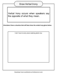 verbal irony facts worksheets examples definition for kids. Black Bedroom Furniture Sets. Home Design Ideas