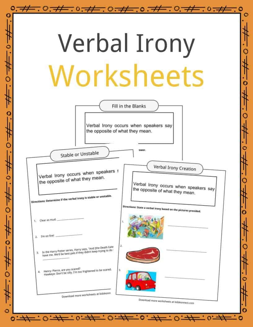 Verbal Irony Worksheets