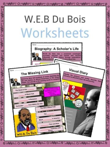 W.E.B Du Bois Worksheets