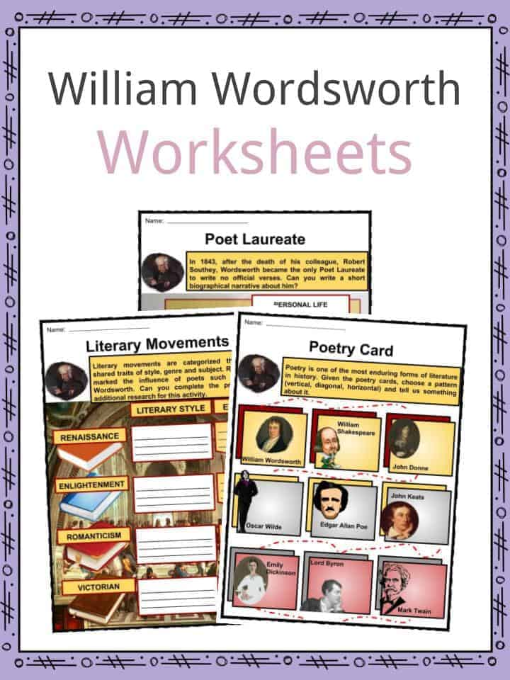 William Wordsworth Facts, Worksheets, Poems & Biography For Kids