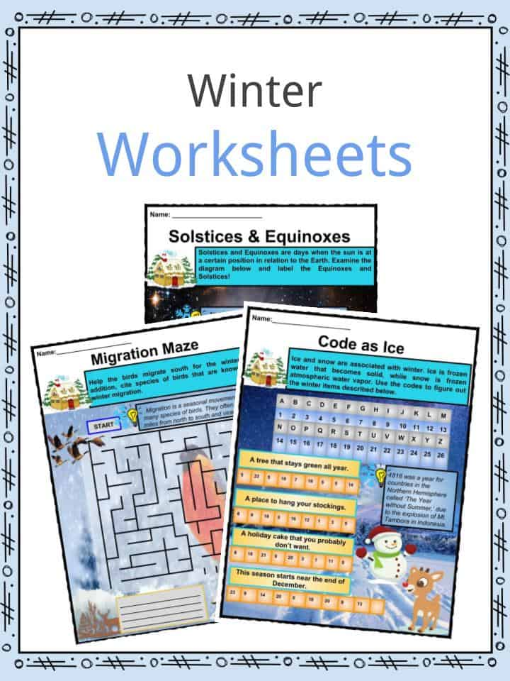 Winter Facts, Information & Worksheets For Kids | Teaching