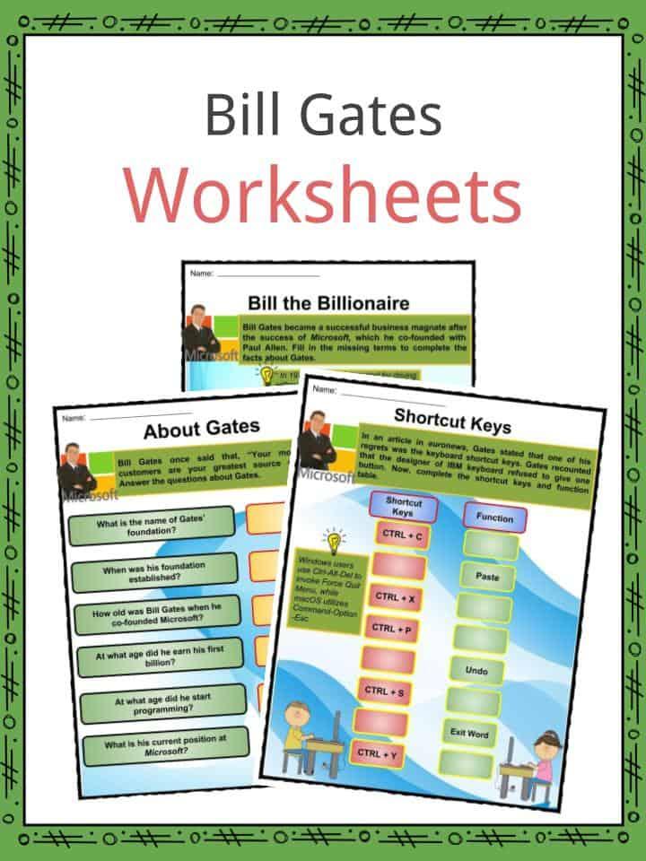 Bill Gates Worksheets