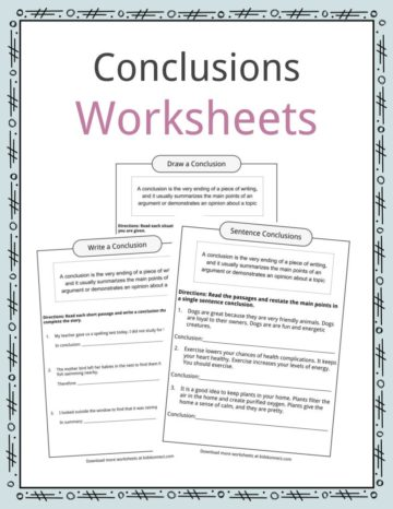 Conclusions Worksheets