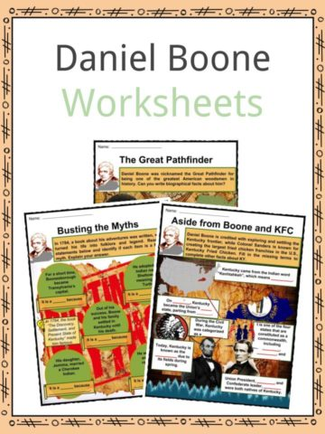 Daniel Boone Worksheets