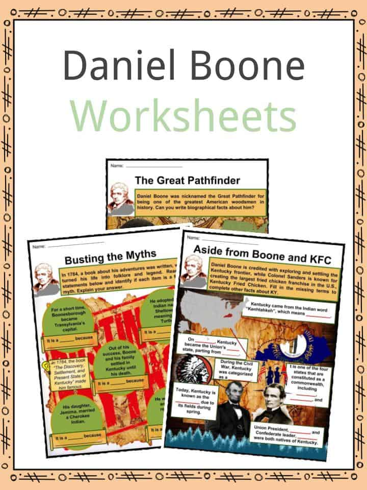 Daniel Boone Facts, Worksheets, Exploration & Biography For Kids