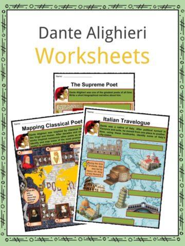 Dante Alighieri Worksheets