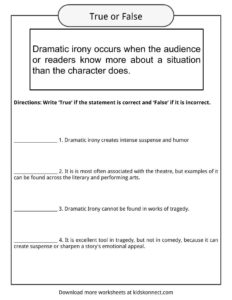 Dramatic Irony Worksheets, Examples & Definition For Kids