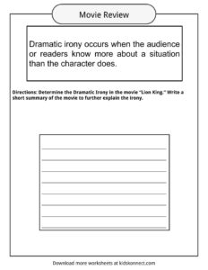 dramatic irony worksheets examples definition for kids. Black Bedroom Furniture Sets. Home Design Ideas