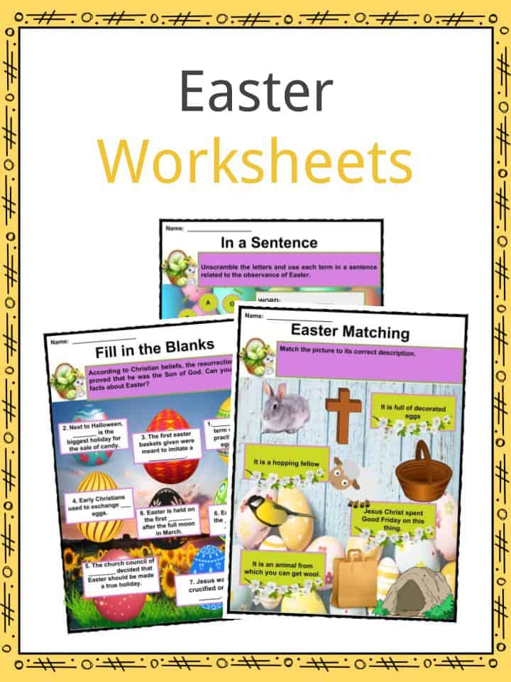 graphic relating to Holy Week Activities Printable known as Easter Info, Worksheets Enjoyable Content For Youngsters