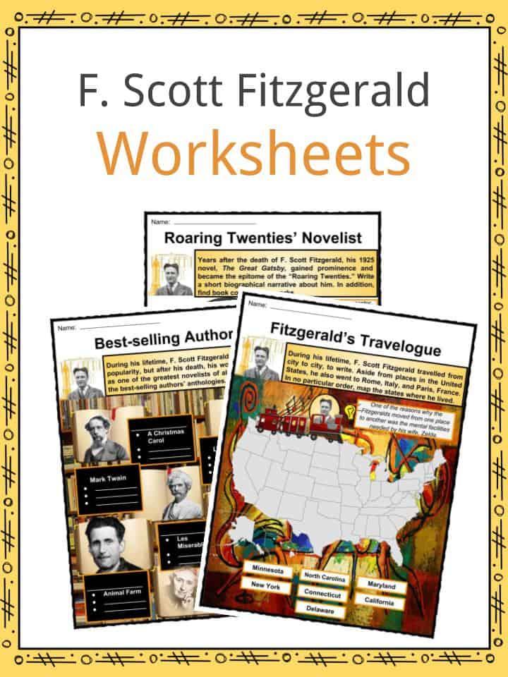 F. Scott Fitzgerald Worksheets