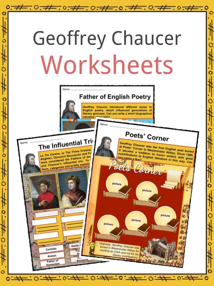 Geoffrey Chaucer Worksheets