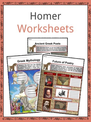 Greek Poet Homer Worksheets