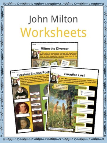 John Milton Worksheets