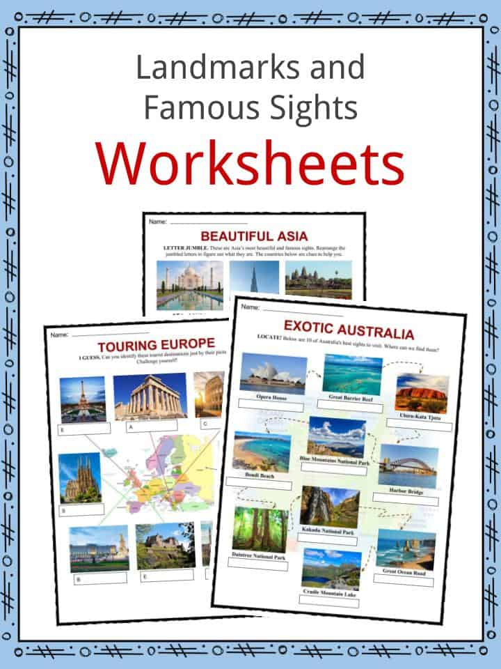 Landmarks & Famous Sights Worksheets