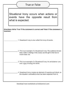 Situational Irony Worksheets, Examples & Definition For Kids