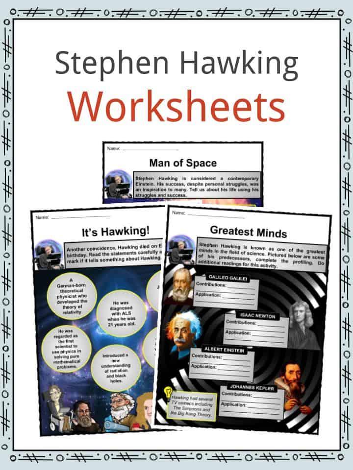 Stephen Hawking Worksheets