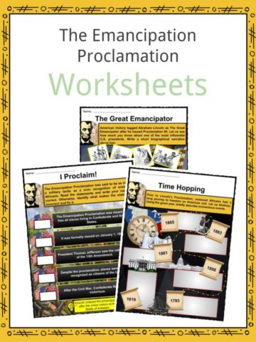 The Emancipation Proclamation Worksheets