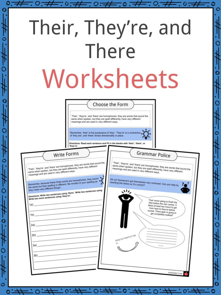 Their They Re And There Worksheets Examples