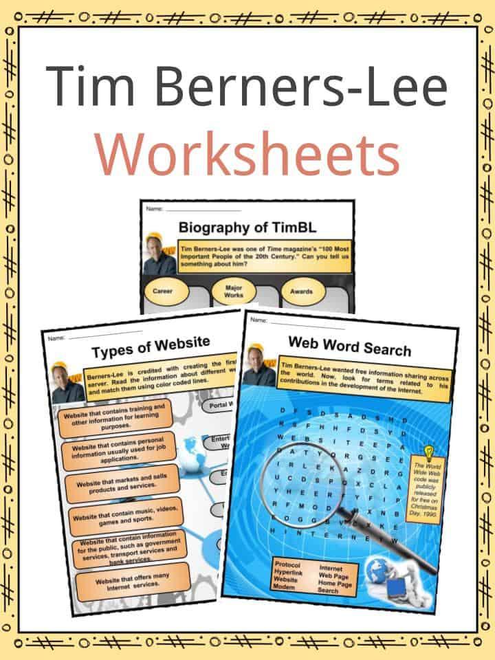 Tim Berners-Lee Worksheets