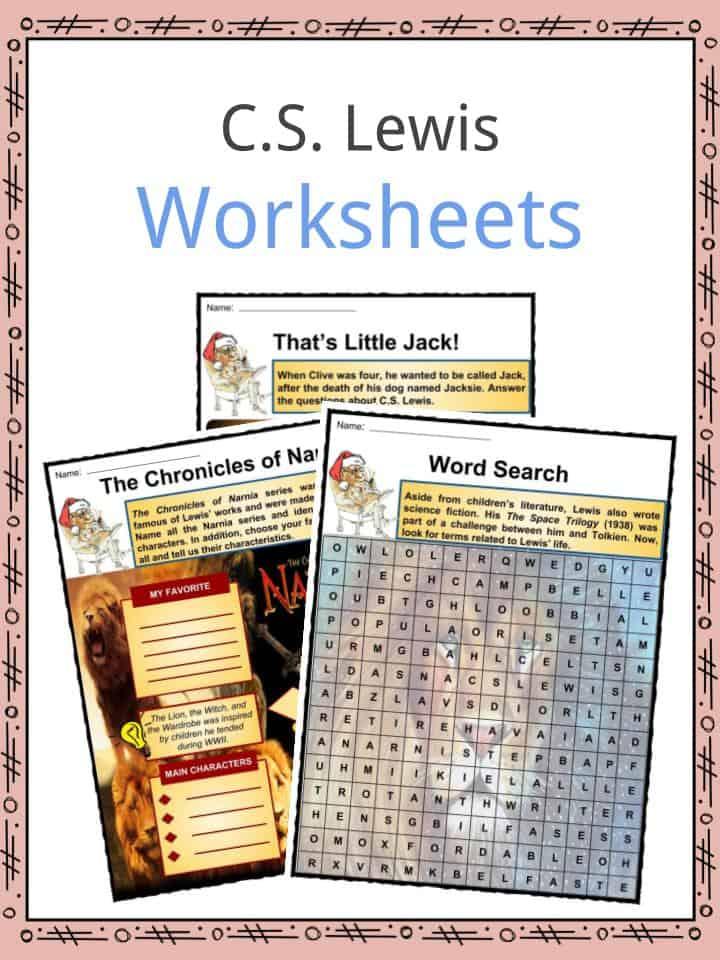 C.S Lewis Worksheets
