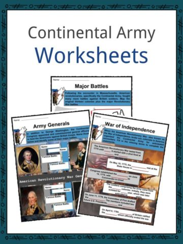 Continental Army Worksheets