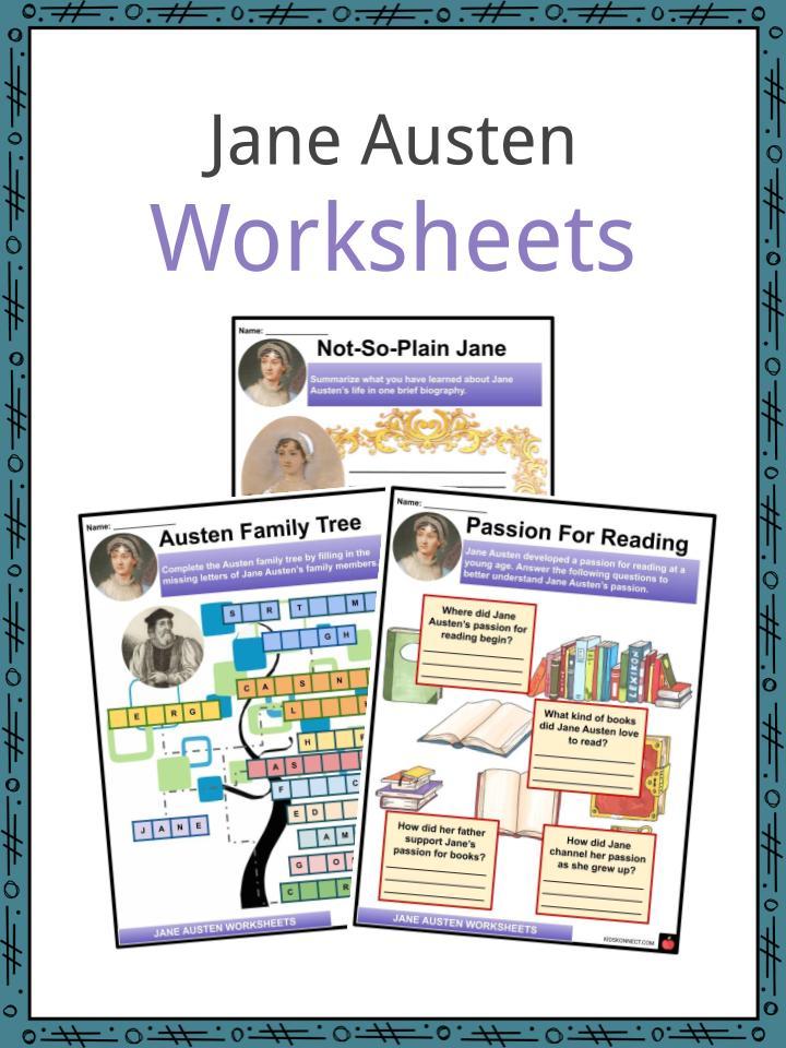 Jane Austen Worksheets
