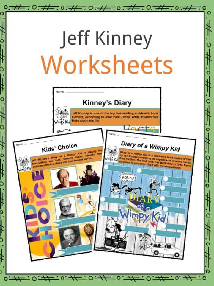 Jeff Kinney Worksheets