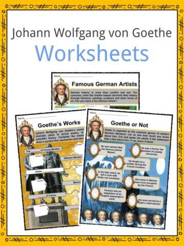 Johann Wolfgang von Goethe Worksheets