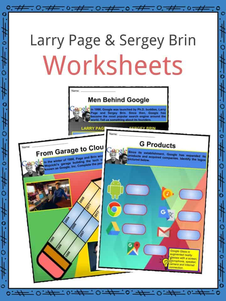 Larry Page and Sergey Brin Worksheets