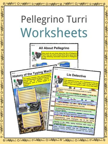 Pellegrino Turri Worksheets