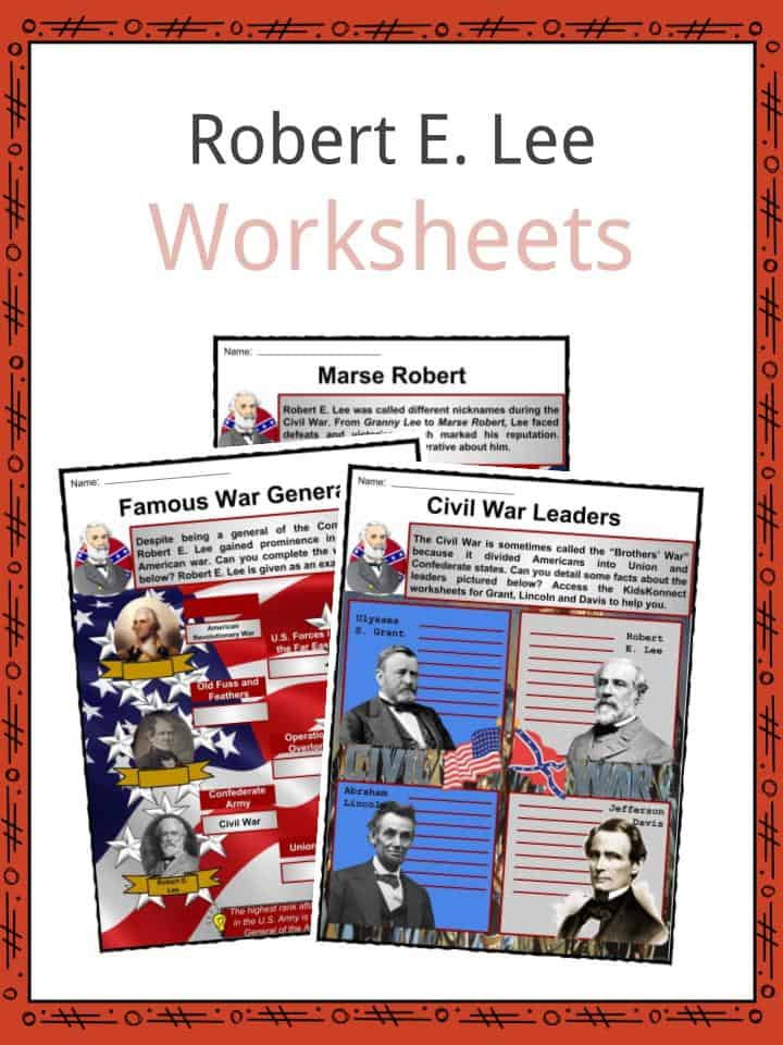 Robert E. Lee Worksheets
