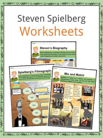Steven Spielberg Worksheets