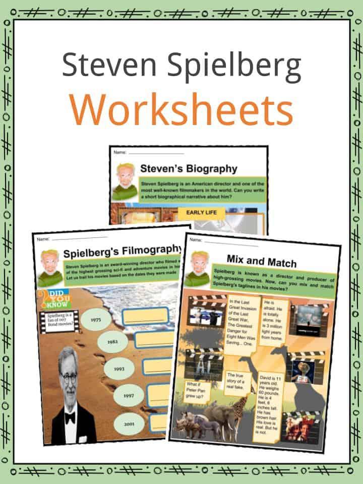 Steven Spielberg Worksheets
