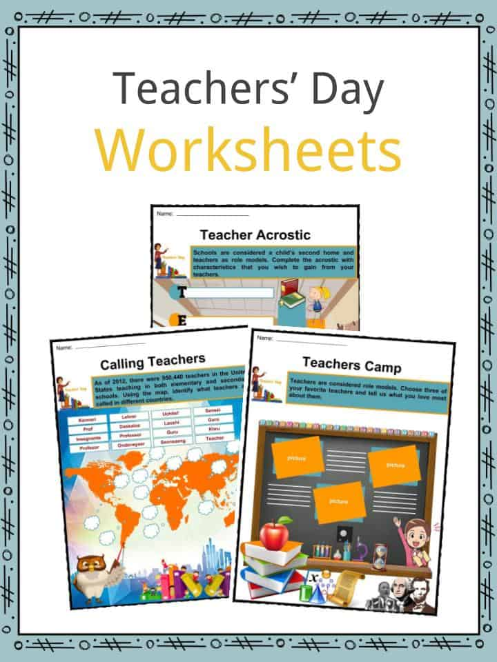 Teachers' Day Worksheets
