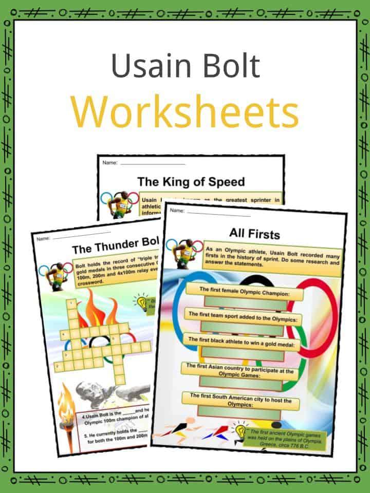 Usain Bolt Worksheets