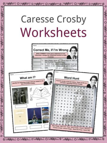 Caresse Crosby Worksheets