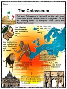 Colosseum Facts, Worksheets, History & Roman Empire For Kids