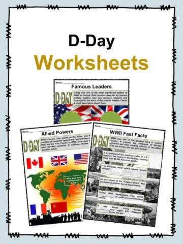 D-Day Worksheets
