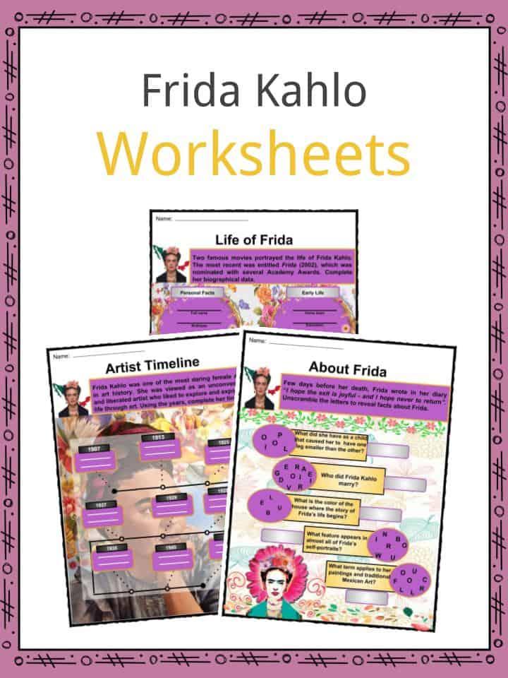 Frida Kahlo Worksheets